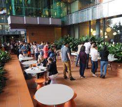 Atrium catering space from far corner