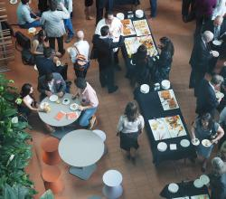 Atrium catering space from above
