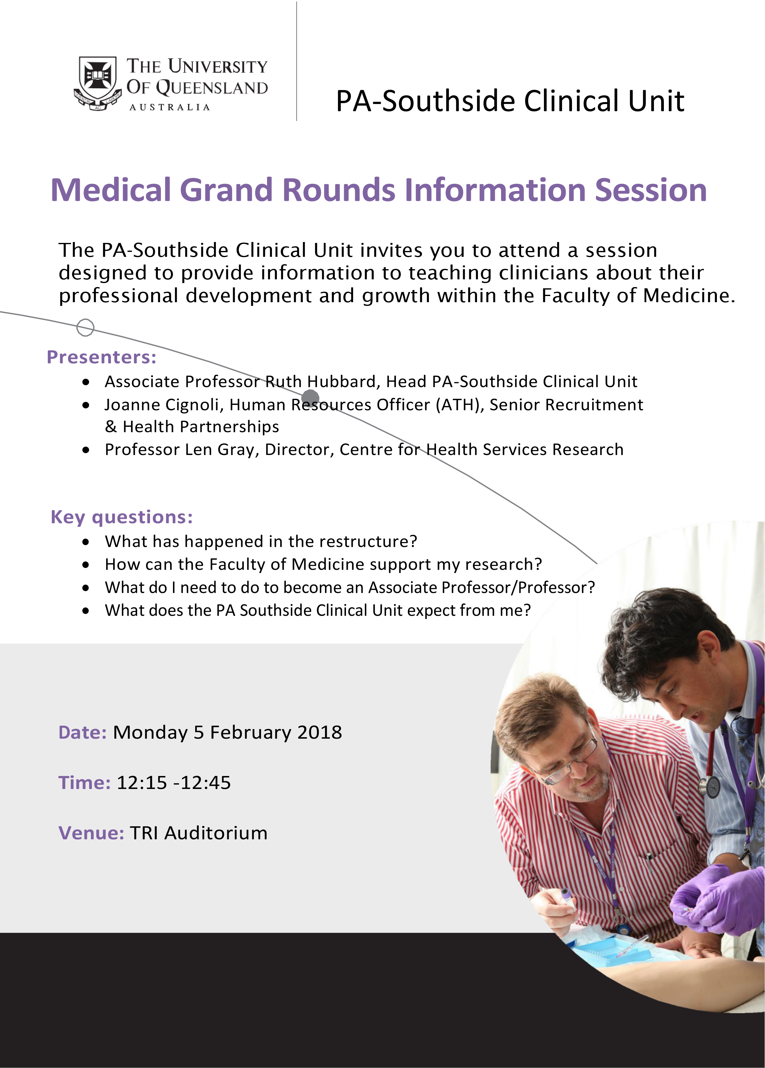 Medical Grand Rounds Translational Research Institute